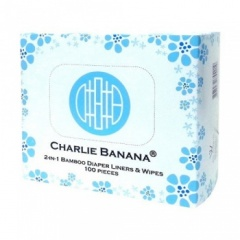 Charlie Banana 2 in 1 Bamboo Liners & Wipes