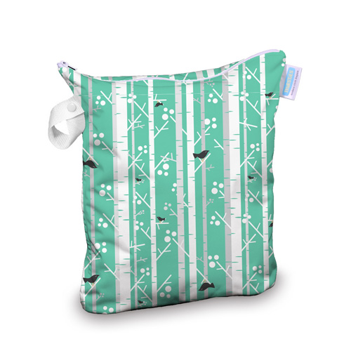 14733a0851b40a ... and fully-taped waterproof seams keep messes and moisture sealed within  cute, color-coordinated popper handle can be used to hang or wrap wet bag  for ...